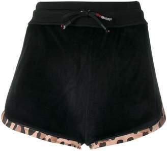 Roberto Cavalli logo track shorts