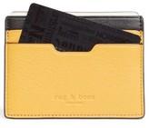 Rag & Bone Women's Leather Card Case - Yellow