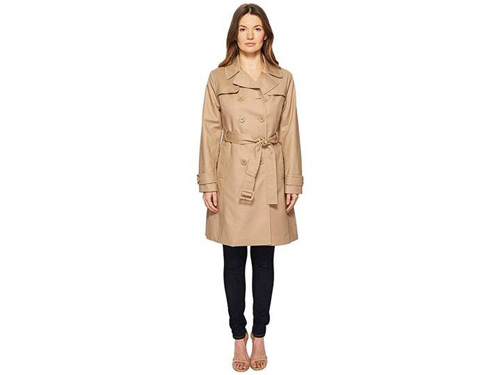 Kate Spade 38 Double Breasted Trench Coat w/ Tie Waist Women's Coat