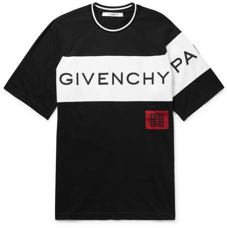 Givenchy Slim-Fit Logo-Embroidered Cotton-Jersey T-Shirt