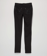 Vigoss Black Sequin Butterfly Leggings - Girls