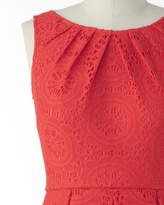 Coldwater Creek Lace medallions dress