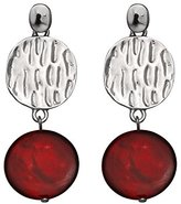 Jules B Red Post Double Drop Earrings