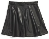 Girl's Tucker + Tate Faux Leather A-Line Skirt