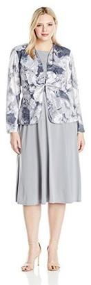 Jessica Howard Women's Size Tucked Front Jacket Dress