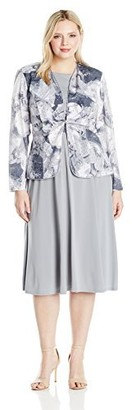 Jessica Howard JessicaHoward Women's Size Tucked Front Jacket Dress