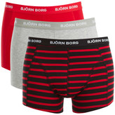 Bjorn Borg Men's 3 Pack Stripe Detail Boxers