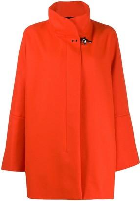 Fay oversized high-neck coat