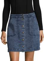 Three Dots Women's Pocket Cotton Skirt