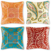 JCPenney Paisley Set of 4 Square Bowls