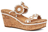 Jack Rogers Leigh Cork and Leather Wedge Sandals