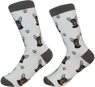 E & S Imports Socks - Black Chihuahua Socks