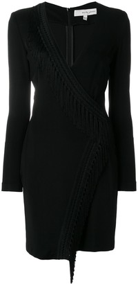 Galvan Fringed Wrap Mini Dress