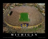 Poster Revolution Michigan, The Big House at Anna Arbor Art Poster Print by Mike Smith, 28x22