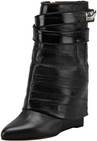 Givenchy Eel Shark Lock Fold-Over Boot