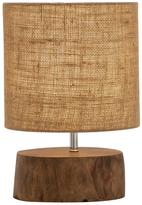 Mahogany Log Table Lamp