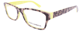 Dolce & Gabbana Yellow Leopard Rectangular Eyeglasses