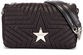 Stella McCartney Medium Star Flap Shoulder Bag in Black | FWRD