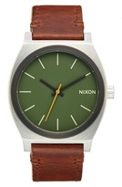 Nixon Men's 'The Time Teller' Leather Strap Watch, 37Mm