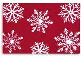 Winter Snowflakes 2-Foot x 3-Foot Hooked Rug