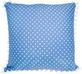 Lullaby Linen Bluebird Coin Dot Cushion