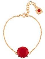 Les Nereides La Diamantine Vermilion Red Round Stone Bracelet.