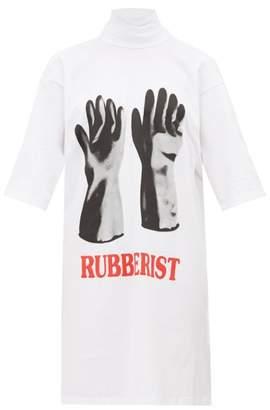 Christopher Kane Rubberist-print Cotton T-shirt Dress - Womens - White