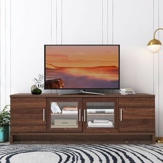 "Overstock 70"" Media Entertainment TV Stand with Storage Cabinet"