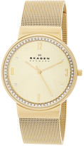 Skagen Women's Ancher Crystal Embellished Mesh Bracelet Watch
