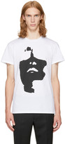 Neil Barrett White Big Face T-shirt