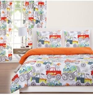 Crayola Four Wheelin' 5 Piece Twin Luxury Duvet Set Bedding