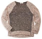 Pinc Premium Girls' Double Zip Sweater - Big Kid