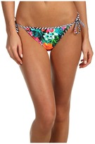 TYR Take a Trip Reversible Side Tie Bikini Bottom (Black Glitter) - Apparel