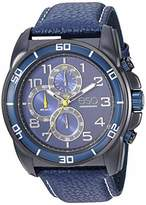 ESQ Men's Stainless Steel Chronograph Watch w/ Leather Strap FE/0212