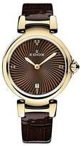 Edox Women's 57002 37RC BRIR LaPassion Analog Display Swiss Quartz Brown Watch
