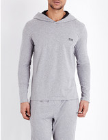 HUGO BOSS Hooded jersey pyjama top
