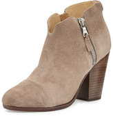 Rag & Bone Margot Side-Zip Ankle Boot, Gray