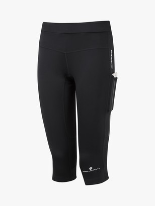 Ronhill Tech Revive Stretch Capri Running Leggings, All Black