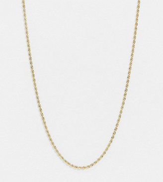 Orelia necklace in gold plate twist chain