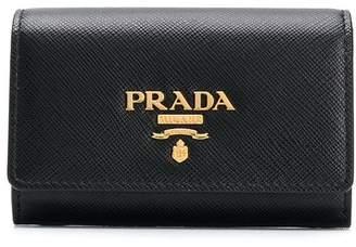 Prada small saffiano leather portfolio style wallet