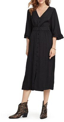 Scotch & Soda Button Front Midi Dress