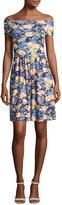 Rebecca Taylor Gigi Off-The-Shoulder Jersey Dress, Multicolor