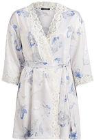 Ralph Lauren Floral Lace-Trimmed Satin Robe