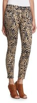 7 For All Mankind The Ankle Skinny Royal Leopard Jeans