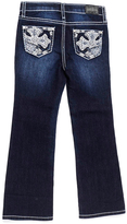 ZCO Dark Blue Lace Cross Embroidered Bootcut Jeans - Girls