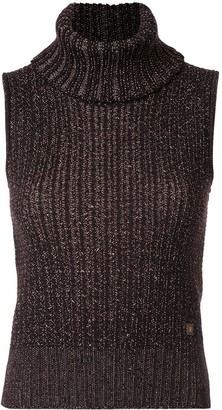Chanel Pre Owned 2001 Knitted Sleeveless Top
