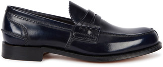 Church's Tunbridge midnight blue leather penny loafers