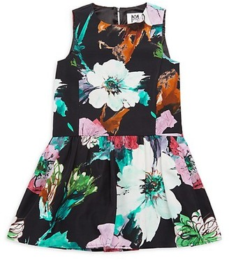 Milly Little Girl's Floral Fit--Flare Dress