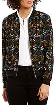 Chelsea & Theodore Floral Bomber Jacket