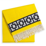 Jonathan Adler Yellow Nixon Border Throw